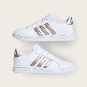 adidas Kids' Grand Court Shoes White/Rose Gold 4